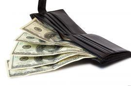 кошелек полный денег